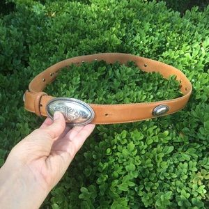 Unusual Vintage Concho Belt from Brighton